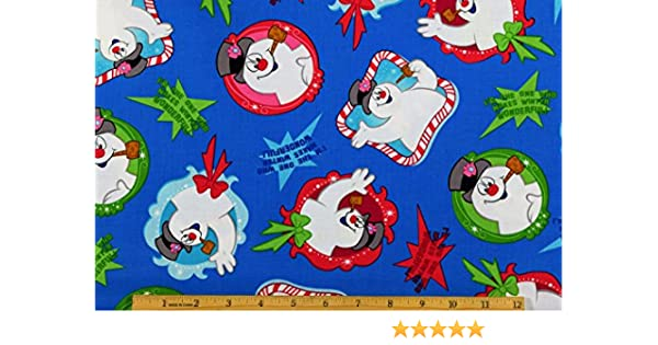 FROSTY EVERYONE/'S FAVORITE SNOWMAN FABRIC QUILTING TREASURE COTTON FREE SHIPPING