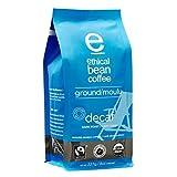 Ethical Bean Coffee Decaf: Single Origin Dark Roast Ground Coffee - Organic and Fair Trade Certified - 8 ounce bag (227 g)