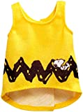 Barbie Clothes: Peanuts Character Top Dolls, Yellow Strip Tank, Gift for 3 to 7 Year Olds