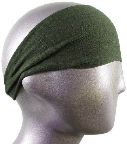 bondi-band-solid-moisture-wicking-4-headband-army-green-one-size