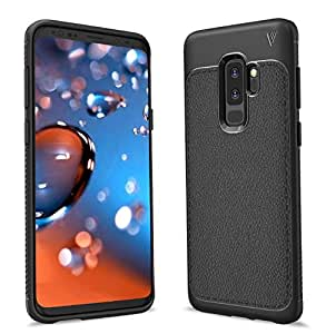 Samsung Galaxy S9 Plus Case Leather Texture Pattern Rubber Silicone TPU Slim Case for Samsung Galaxy S9 Plus 6.2 Inch