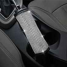 U&M Bling Bling Auto Handbrake Cover, Luster Crystal Car Hand Brake Protective Handle Cover Diamond Car Decor Accessories