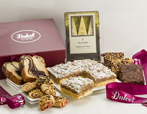 Dulcet Royal Pastry and Tea Gift Set - Includes a Collection of Tantalizing Pastries & Fine Teas Presented in Elegance for mothers day birthday party