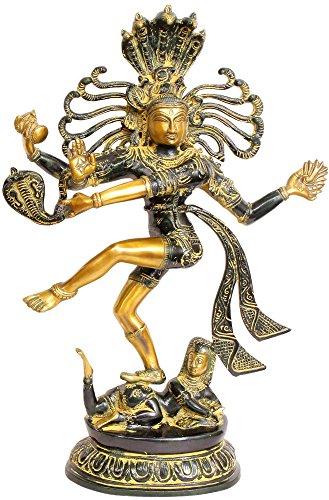Exotic India Señor Shiva como–de Nataraja Estatua de latón