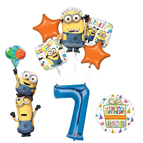 Despicable Me 3 Minions Stackers 7th Birthday Party Supplies and balloon Decorations]()