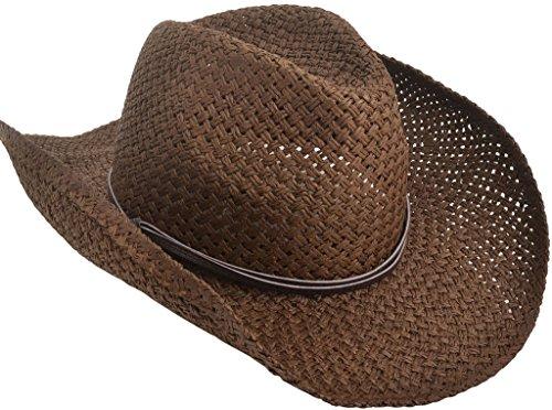 TAUT - Sombrero de Paja de Chico con Brasier moldeable, Unisex, PU Band_Chocolate, Talla única