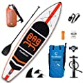 "FunWater Inflatable Stand Up Paddle Boards 11'×33""×6"" Ultra-Light (17.6lbs) SUP for All Skill Levels Everything Included with 10L Dry Bags, Board, Travel Backpack, Adj Paddle, Pump, Leash, Repair Kit"
