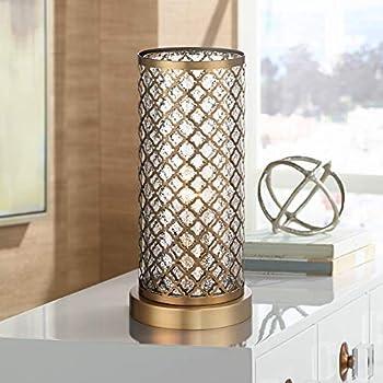 Alcazar Modern Table Lamp Brass And Clear Mercury Glass