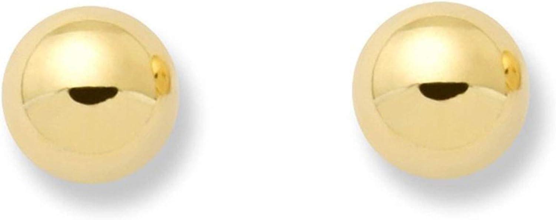 Monde Petit T1677P - Pendientes de bebe/niña oro 18 kts. de bola lisa