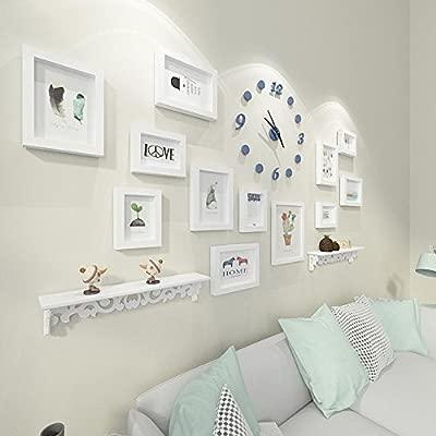 Kaige Combinación de marcos de fotos Foto marco pared reloj ...