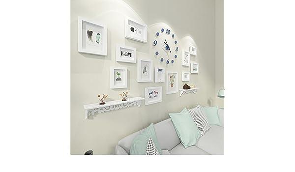 Daeou Foto marco pared reloj portaretrato colgante pared salón ...