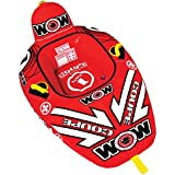 WOW World of Watersports Coupe Cockpit Towable Tube, Front and Back Tow Points