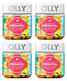 Olly XCMPRDAX Essential Prenatal Multivitamin Gummy Supplement, with FOLIC Acid + Omega-3s, Vibrant Citrus, 60 Count, Pack of 4