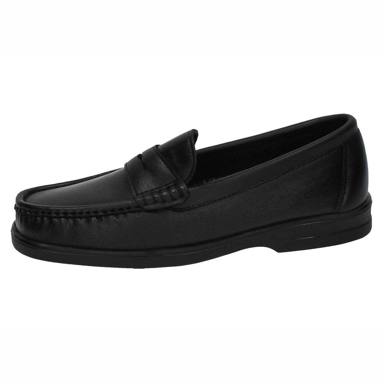CALZALINE 1180 Mocasines DE Piel Hombre Zapatos MOCASÍN Negro