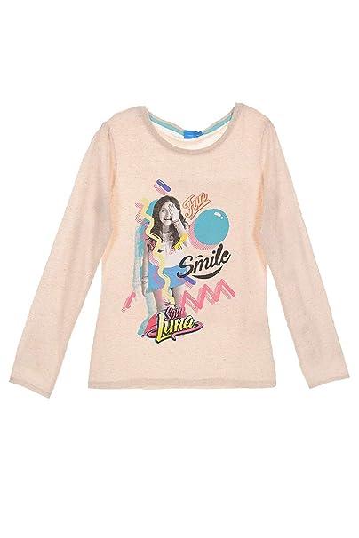 Soy Luna - Camiseta de manga corta - para niña beige 10 años