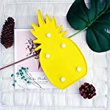 Pineapple Night Light BJYHIYH Battery Operated Marquee Sign Lights Pineapple Decor for Kids' Room,Home Party Christmas