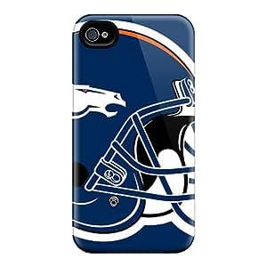 New Premium Flip Case Cover Denver Broncos Skin Case For Iphone 4/4s