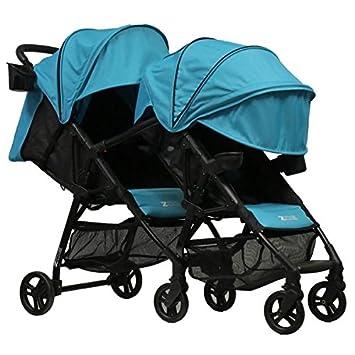 ab7e94984500 ZOE XL1 Best Tandem Lightweight Travel & Everyday Umbrella Stroller System  (Aqua)