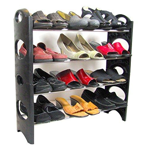 Palermo QH-SR04 Shoe Rack Organizer, Adjustable Shelves, Holds 12 Pairs