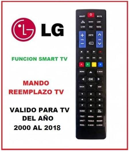 Mando para televisores LG Fabricados en 2000-2018: Amazon.es: Electrónica