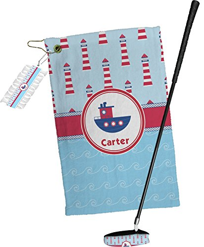 Light House & Waves Golf Towel Gift Set - Themed Golf Light Set