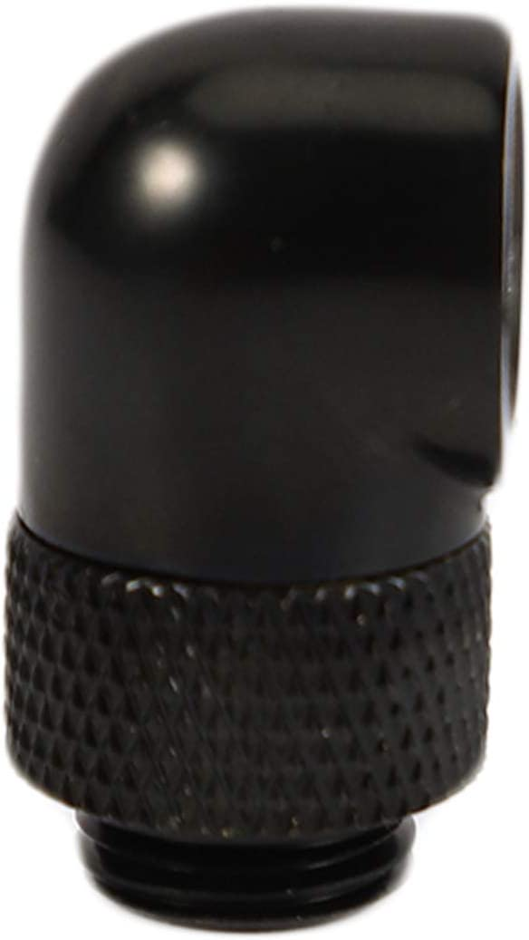 4 Adaptador De Montaje De 90 Grados para Sistema De Enfriamiento De Agua Pc Negro Senmubery Conector De Enfriamiento Rotativo De Agua De Ajuste Rotativo De Rosca G1