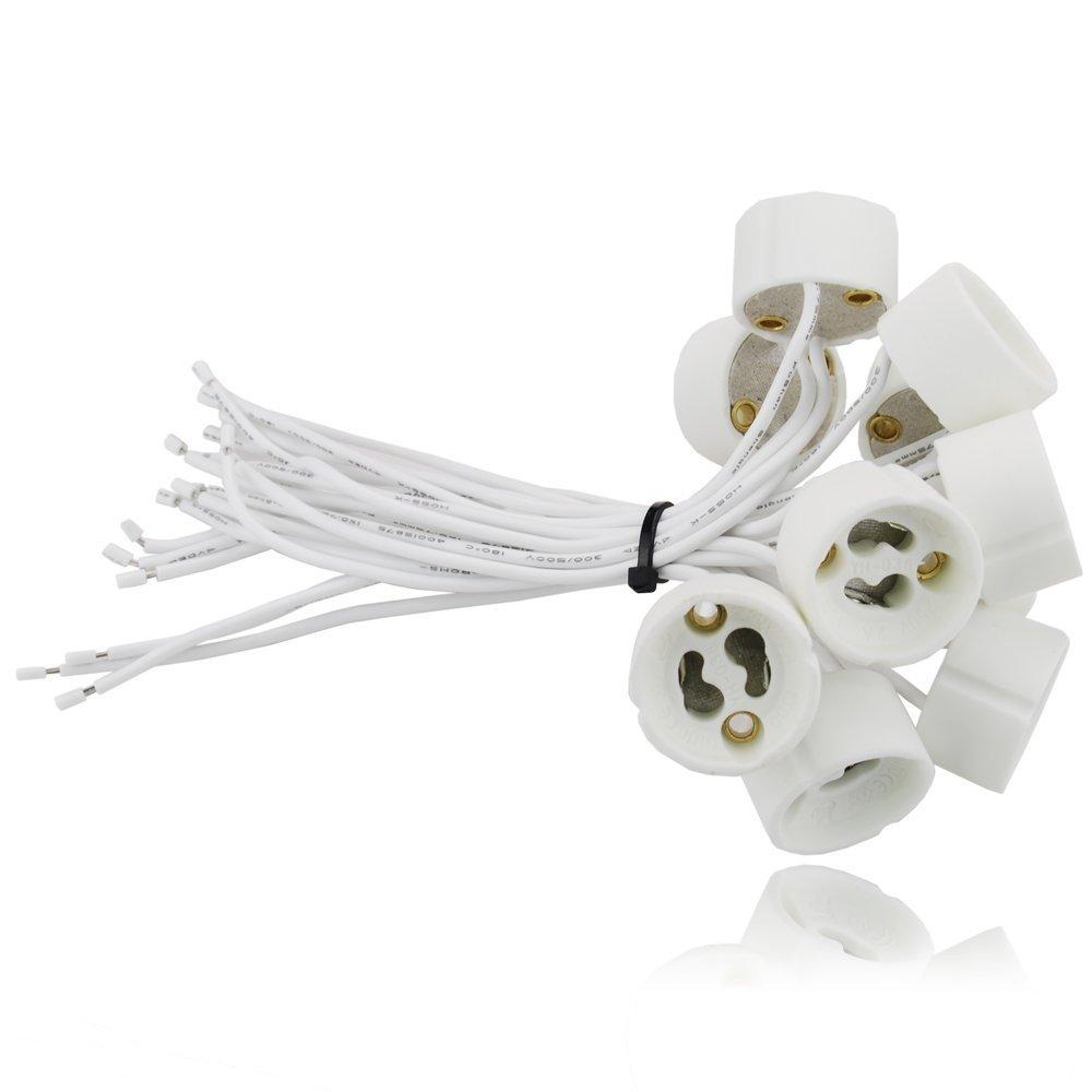 Sweet Led - Juego de 20 portalámparas GU10 (para bombillas led y halógenas) [Clase de eficiencia energética A] Sweet-Led