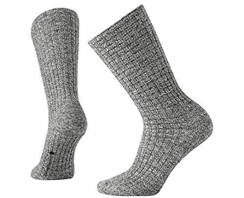 SmartWool Women's Premium Town Crossing Boucle Boot Socks (Medium Gray Heather) Medium