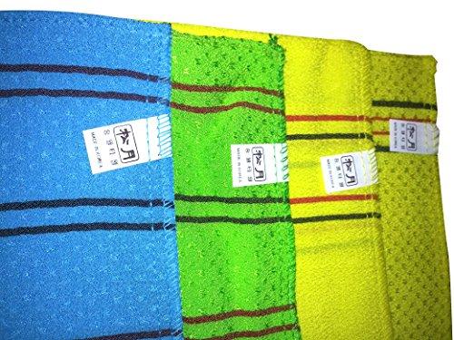 (AROM BATH [Big size, 4 types by degree of roughness] Korean Massage Exfoliating Cloth Bath Washcloth Bath Towel)