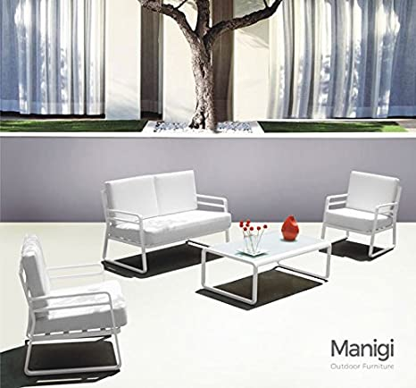 Manigi Set sofá de Exterior (Aluminio con sillones y Mesa ...