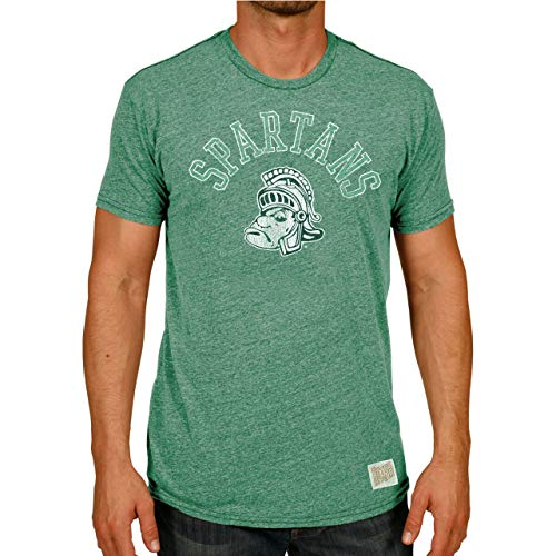 Retro Brands NCAA Michigan State Spartans Green Mock Twist Ringer T-Shirt ()