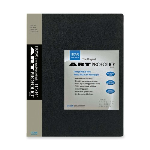 Art storage/display book is great for storing and displaying photographs and film. 24 top-loading, clear polypropylene sleeves will not stick to copier toner. Reversible spine insert allows you to customize your title and organization. Durable polypr...
