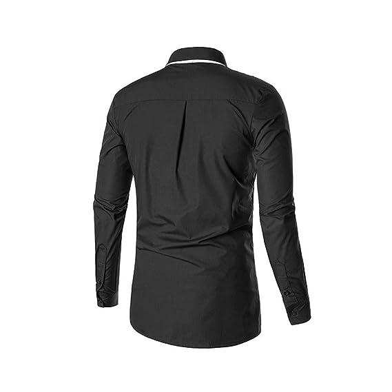 ... Camisas para Hombre de Manga Larga Botón Casual Camisa con Cuello de Camisa Top Uniformes, Trabajo y Seguridad: Amazon.es: Ropa y accesorios