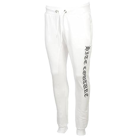 Hite costura kapiler blanco Pant Jogg - Pantalones de chándal ...
