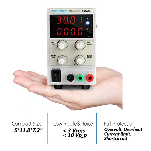 Dc Bench Power Supply Variable Pevono Ps305h 0 30v 0 5a