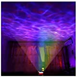 Lightahead® Ocean Master Romantic Relaxing Ocean Wave Light Multi Color Projector ,a built-in speaker that can be used with a audio cable A One Hour Auto Shutdown [Energy Class A+]