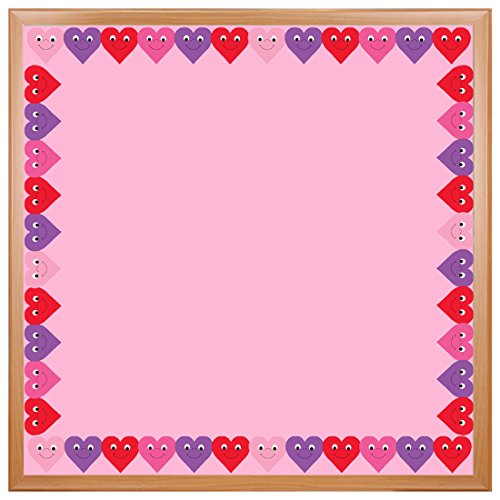 Hygloss Products Happy Hearts Die-Cut Bulletin Board Border – Classroom Decoration – 3 x 36 Inch, 12 Pack -