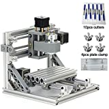 DIY CNC Router Kits 1610 GRBL Control 3 Axis Plastic Acrylic PCB PVC Wood Carving Milling Engraving Machine, XYZ Working Area 160x100x45mm CNC Router Machine By Beauty Star