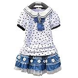 eshion Fashion Girl's Short Sleeve Print T-shirt and Layered Cake Skirt Set