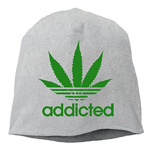 Addicted-Cannabis-Weed-Leaf-Logo-Print-Mens-Beanie-Ski-Hat-Funny-Collection-Winter-Wool-Hats