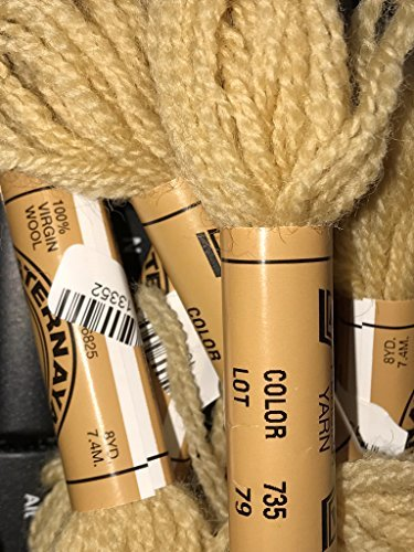 (Paternayan Needlepoint 3-ply Wool Yarn-Color-735-HONEY GOLD-this listing is for 2 mini 8-yd skeins)