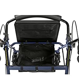 Drive Medical Aluminum Rollator Fold Up and Removable Back Support, Padded Seat, 8\