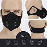 Simwell Dust Masks, Activated Carbon Dustproof Masks With 4 Extra Filter Earloop Cycling Mask for Running Woodworking House Cleaning and Gardening, against Asthma, Pollen Allergies, PM2.5