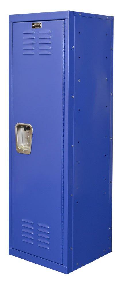 Hallowell Kid Locker, 15''W x 15''D x 48''H, 717 Grand Slam (blue), Single Tier, 1-Wide, Knock-Down