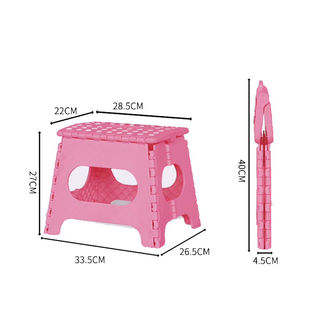 Pink WEIFANFurniture Folding Step Stool  Compact And Lightweight NonSlip Step Stool  Suitable For Home And Work  Folding Flat With Handle (bluee)