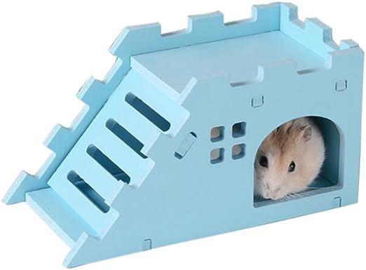 Roblue nido de hámster oso abeja nido de pañales de cobaya Villa con de las escaleras de plástico: Amazon.es: Productos para mascotas