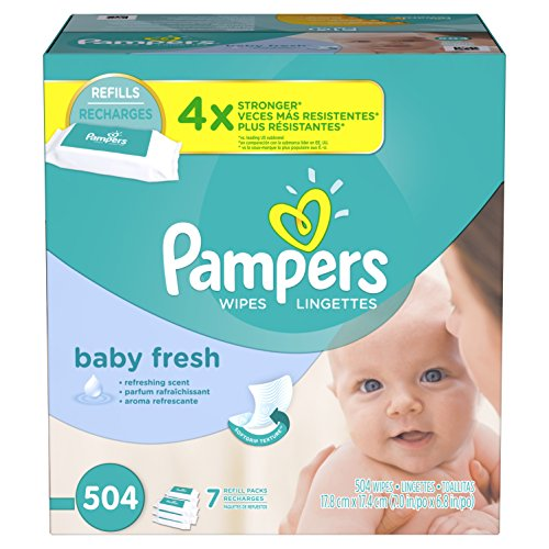 Large Product Image of Pampers Baby Fresh Water Baby Wipes 7X Refill Packs, 504 Count