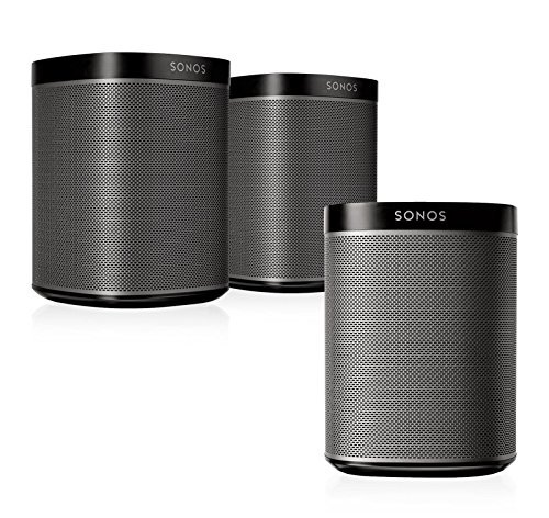 Sonos Play 1 Multi Room Digital Music System Bundle  3   Play 1 Speakers    Black