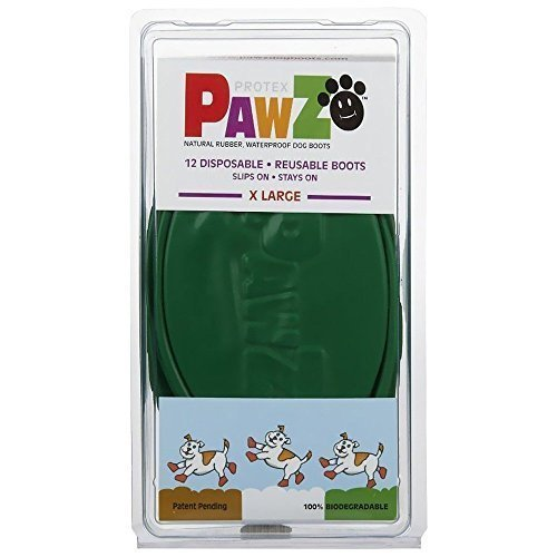 PAWZ Extra Large Dog Boots (Rubber Dog Boots)