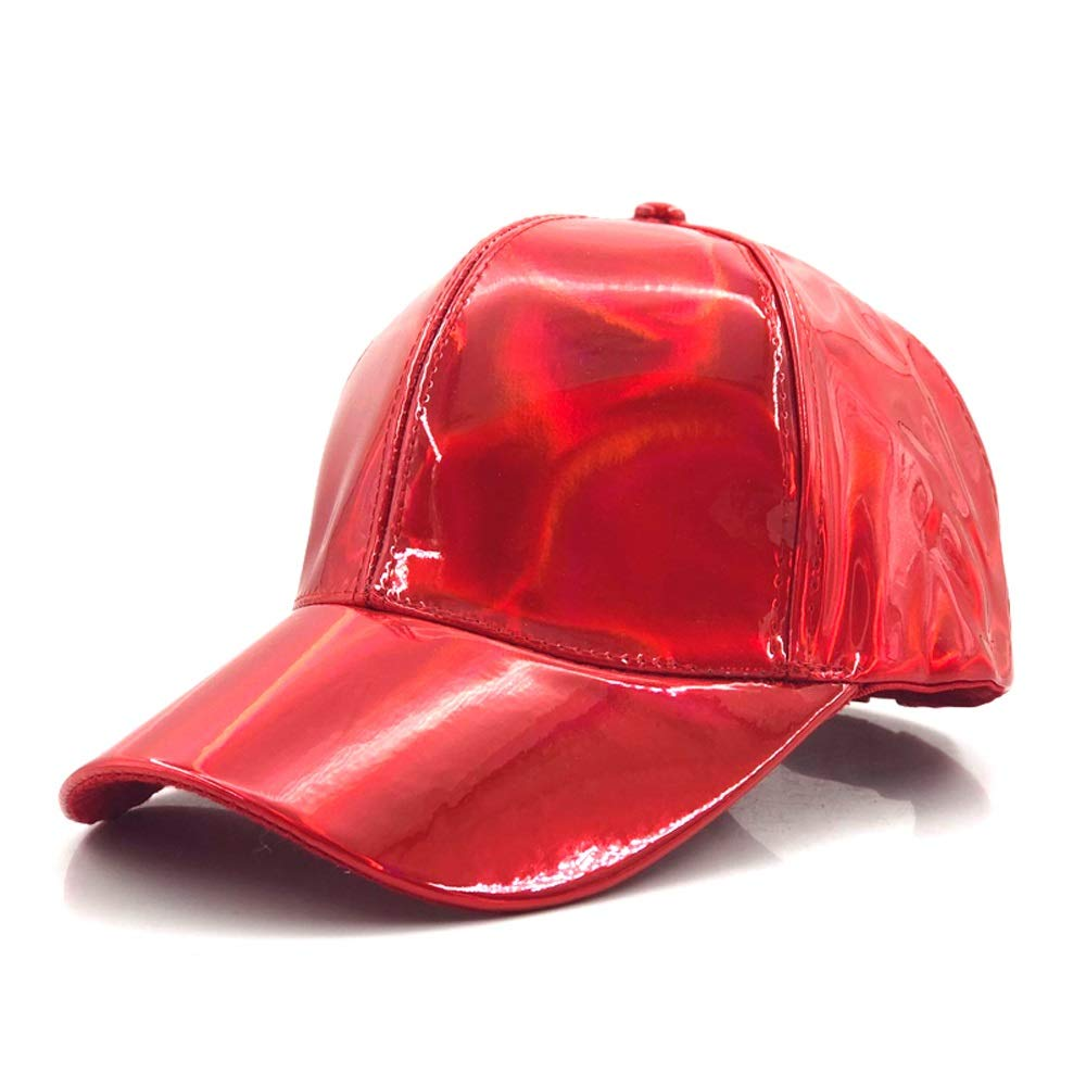 Fashion Hip Hop Hat Rainbow Discolored Hat Hat Returns To Bigbang G-Dragon Baseball Cap, by jdon-hats, (Color : Red, Size : 56-60CM)